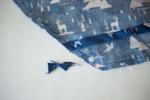 pic of excess fabric trimmed off
