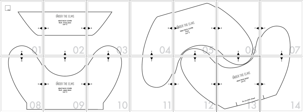 picture of the pattern layout