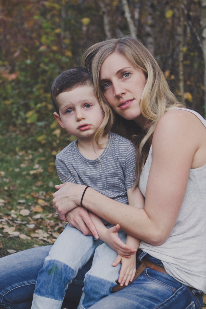 Author and her son