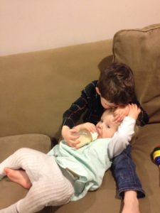 Author's Toddler and Baby